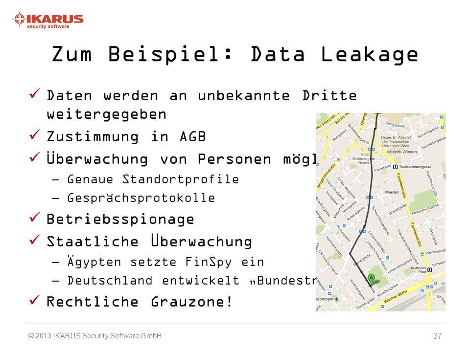 Zum Beispiel: Data Leakage