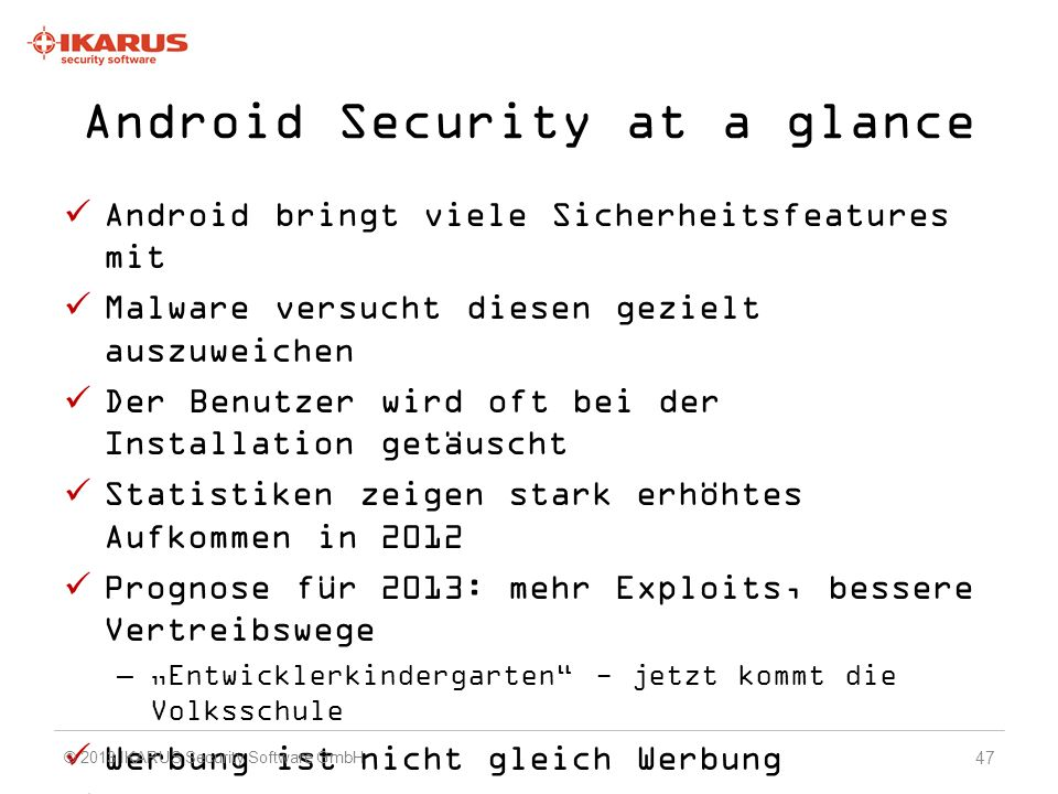 Android Security at a glance
