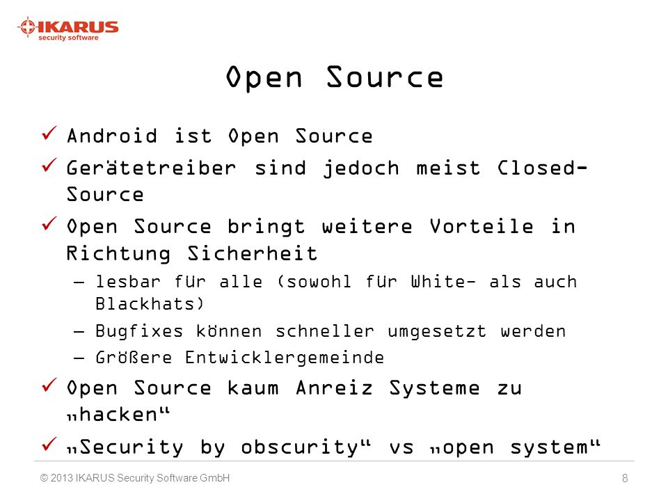 Open Source Android ist Open Source