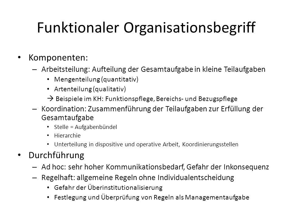Funktionaler Organisationsbegriff
