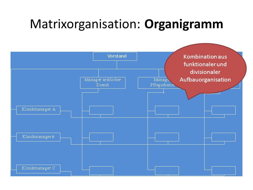 Matrixorganisation: Organigramm