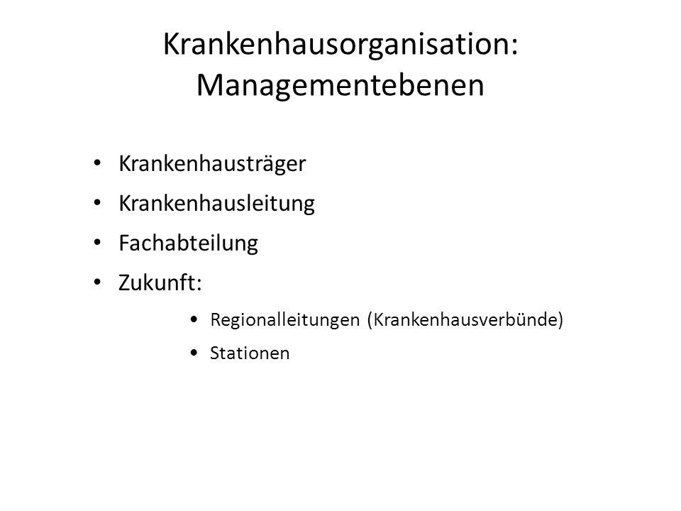 Krankenhausorganisation: Managementebenen