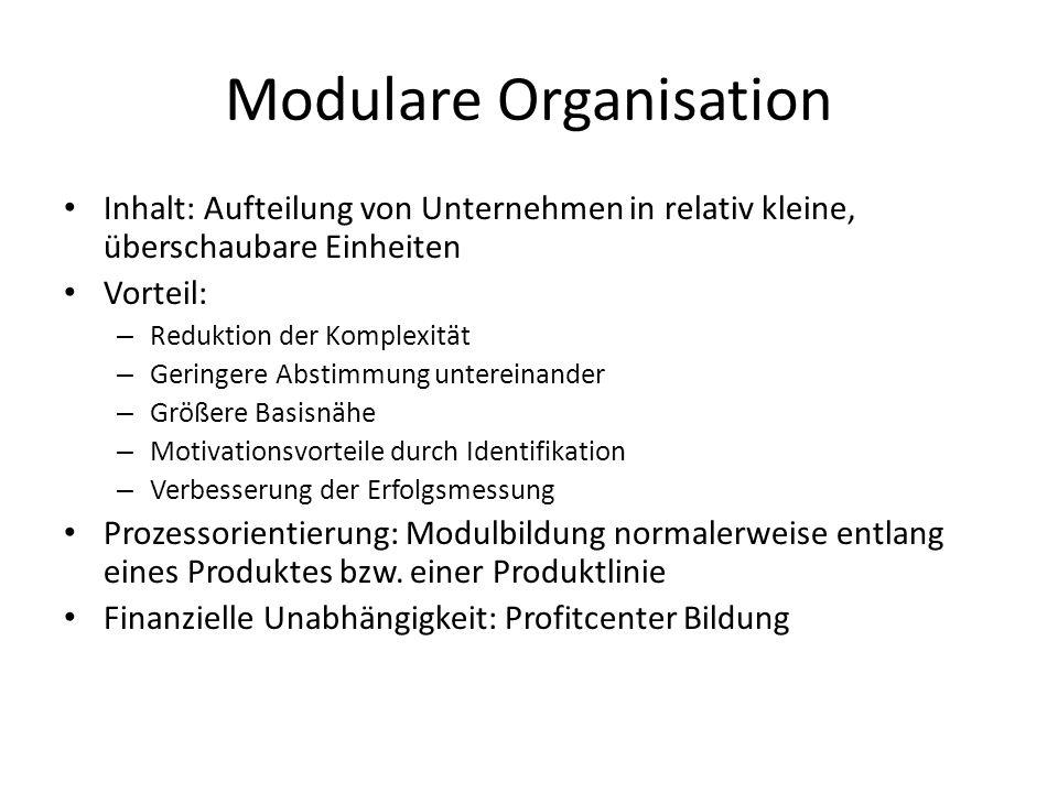 Modulare Organisation