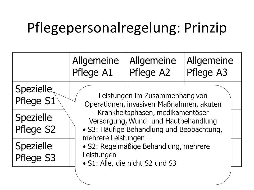 Pflegepersonalregelung: Prinzip