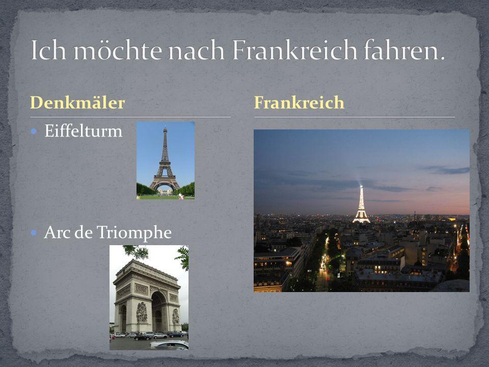 Ich möchte nach Frankreich fahren.