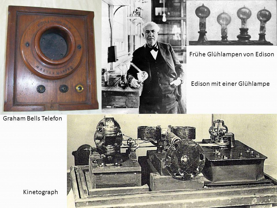 Frühe Glühlampen von Edison