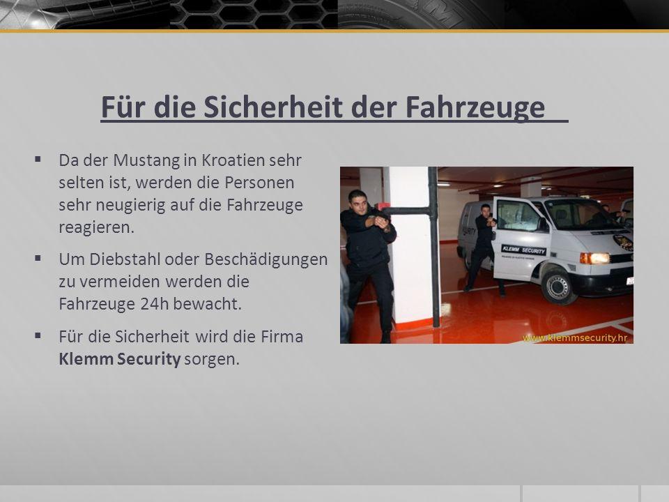 Für die Sicherheit der Fahrzeuge