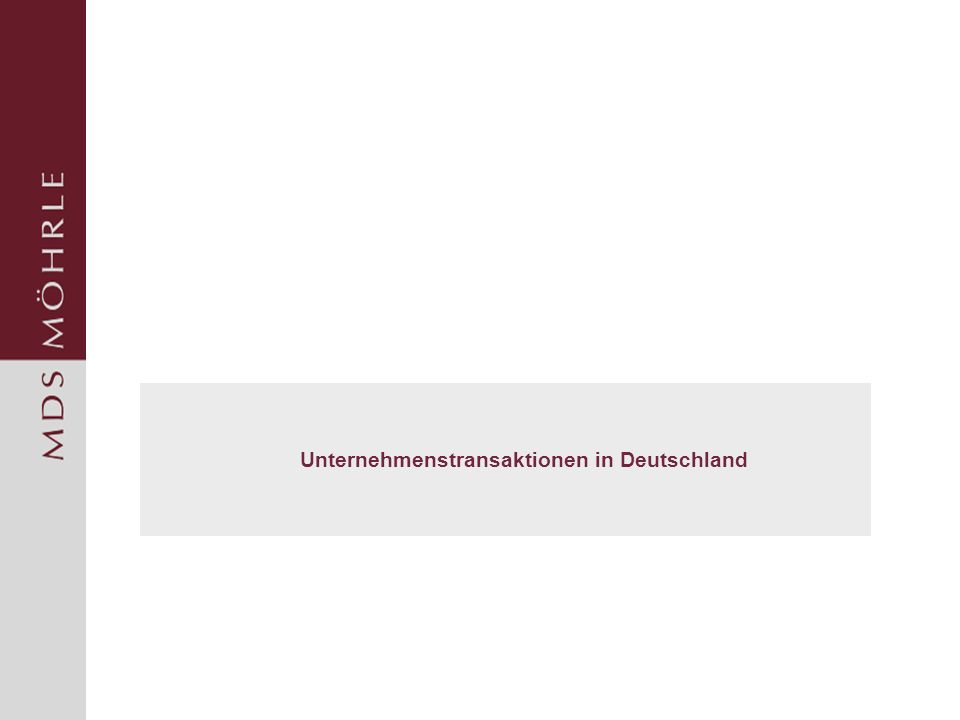 Unternehmenstransaktionen in Deutschland