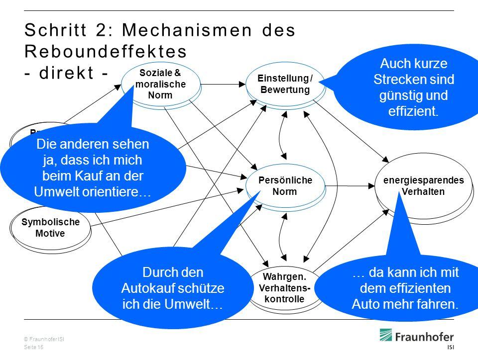 Schritt 2: Mechanismen des Reboundeffektes - direkt -