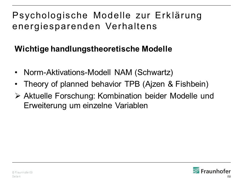 Psychologische Modelle zur Erklärung energiesparenden Verhaltens