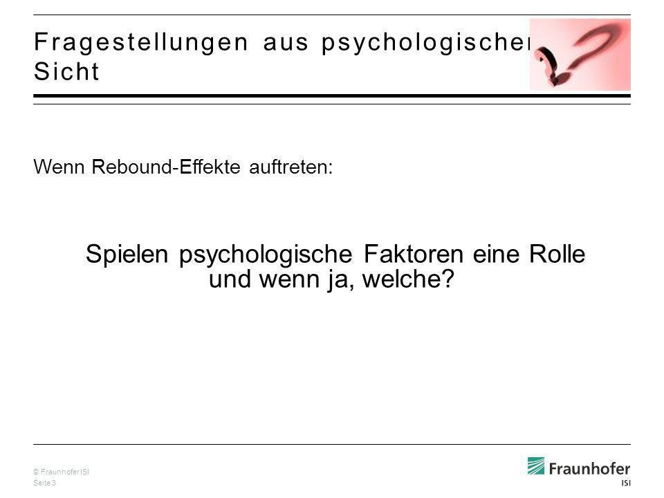 Fragestellungen aus psychologischer Sicht