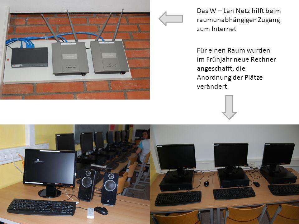 Das W – Lan Netz hilft beim raumunabhängigen Zugang zum Internet