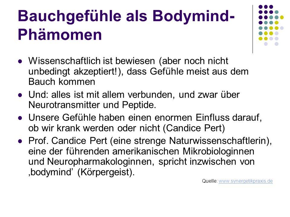 Bauchgefühle als Bodymind-Phämomen
