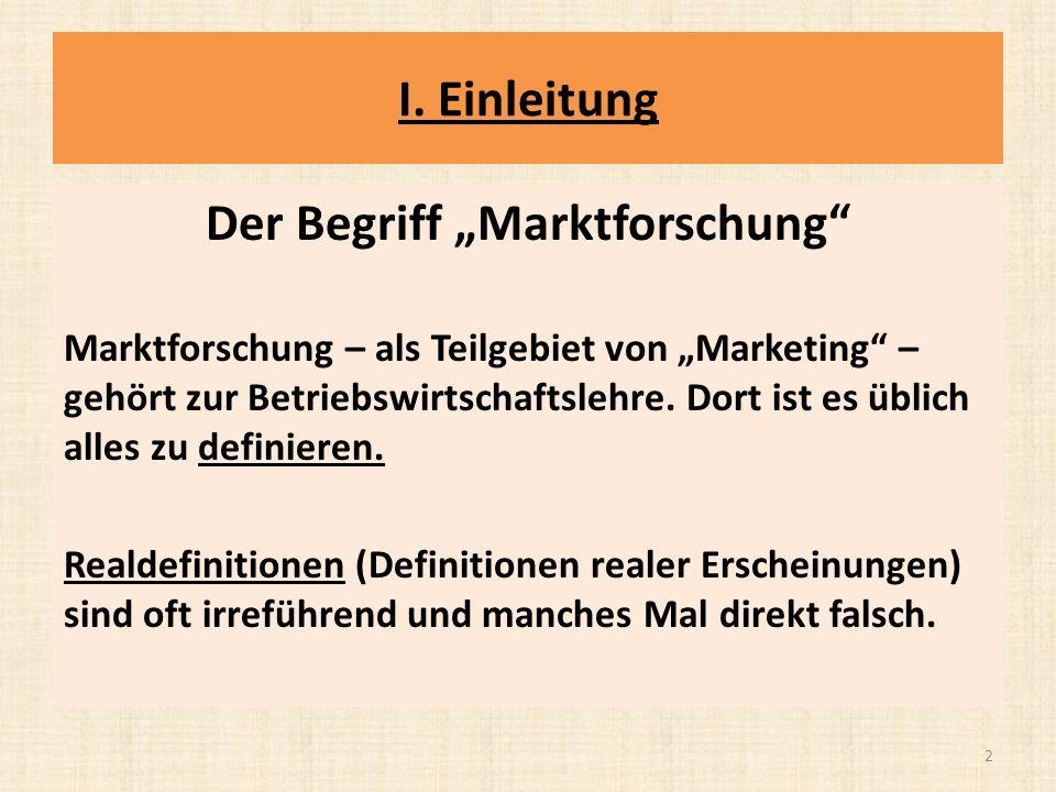 """Der Begriff """"Marktforschung"""