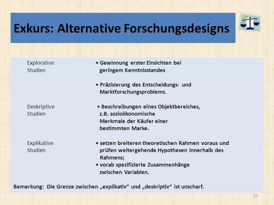 Exkurs: Alternative Forschungsdesigns