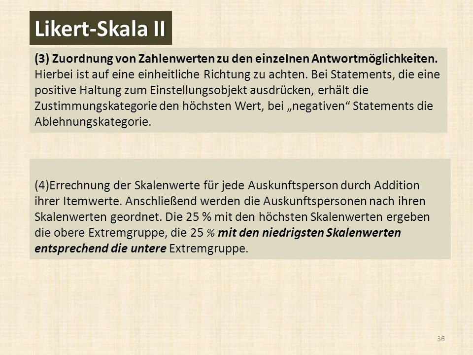 Likert-Skala II