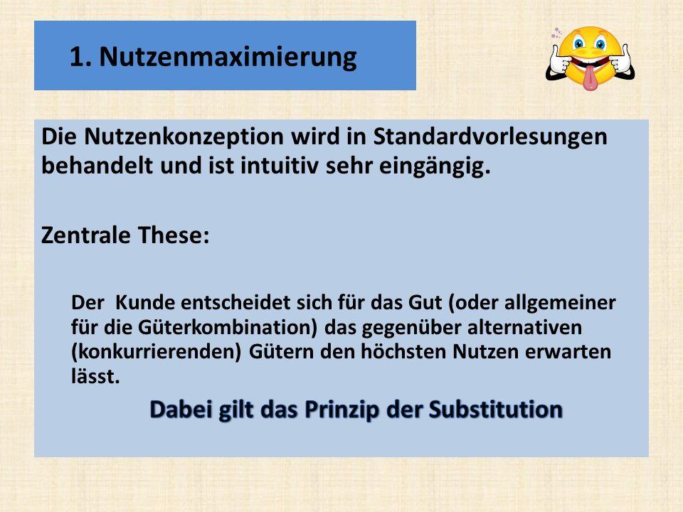 Dabei gilt das Prinzip der Substitution