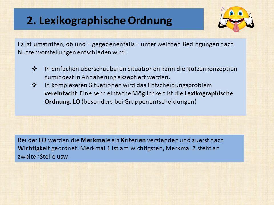 2. Lexikographische Ordnung