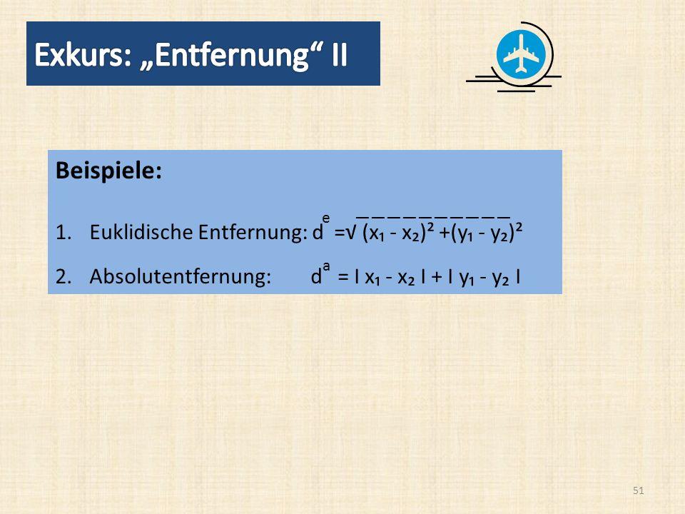 """Exkurs: """"Entfernung II"""