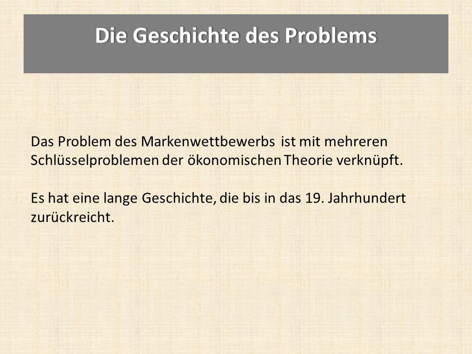 Die Geschichte des Problems