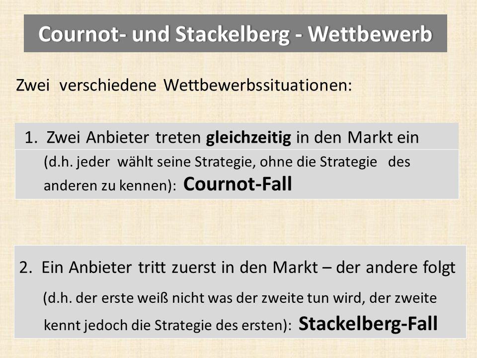 Cournot- und Stackelberg - Wettbewerb