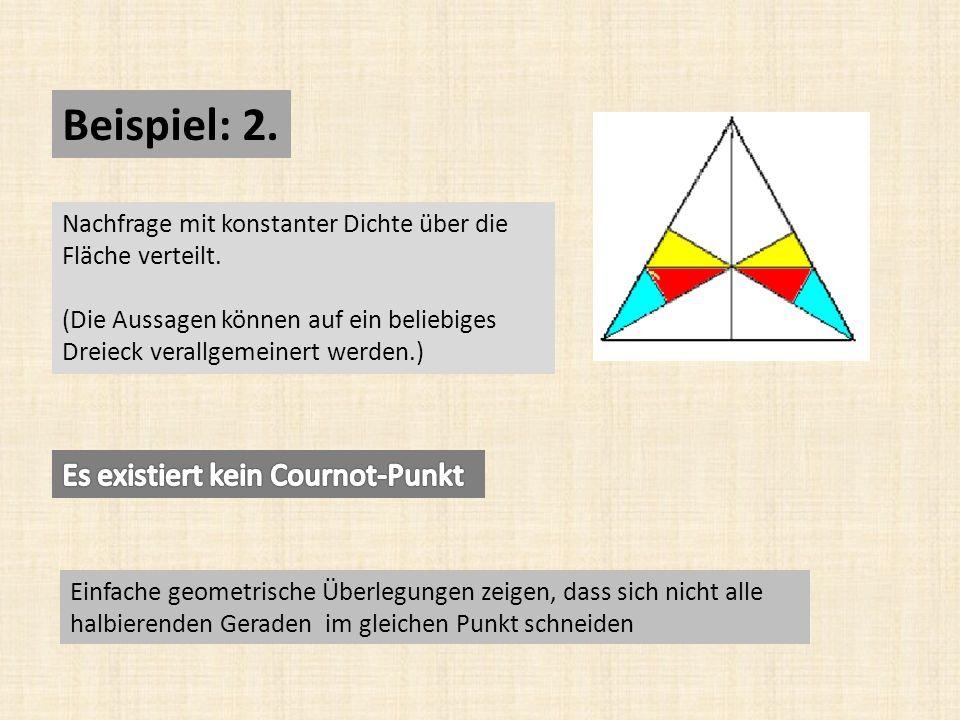 Beispiel: 2. Es existiert kein Cournot-Punkt