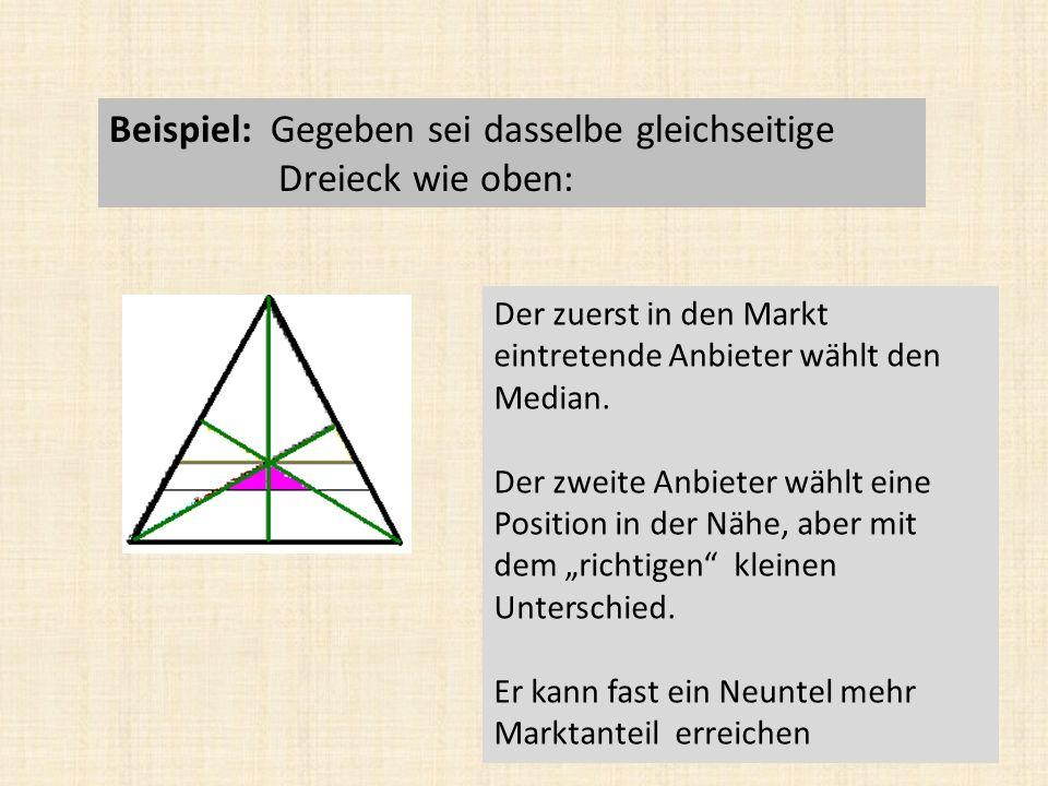 Beispiel: Gegeben sei dasselbe gleichseitige Dreieck wie oben: