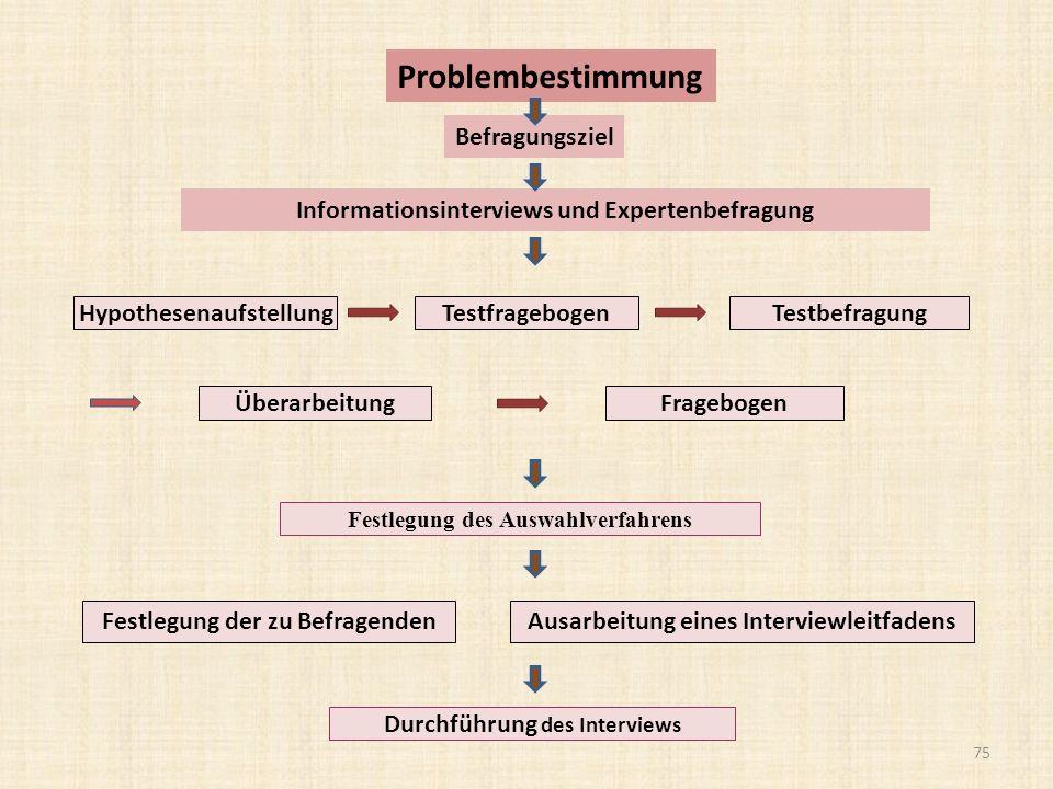 Informationsinterviews und Expertenbefragung