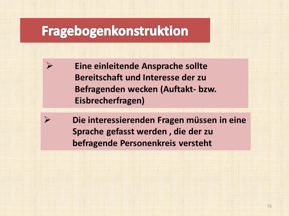 Fragebogenkonstruktion