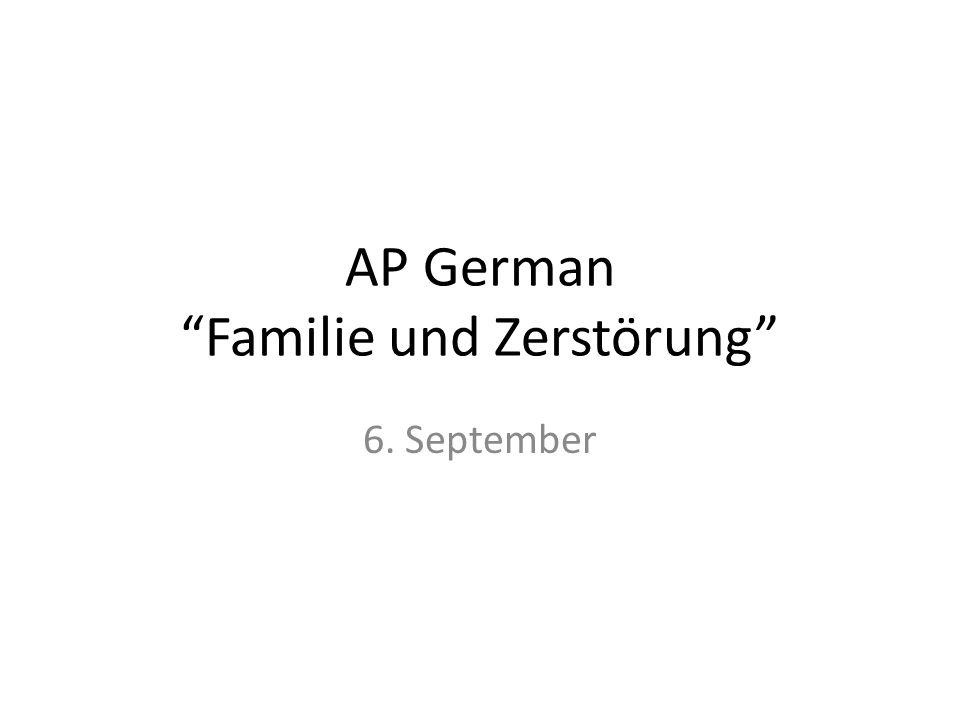 AP German Familie und Zerstörung