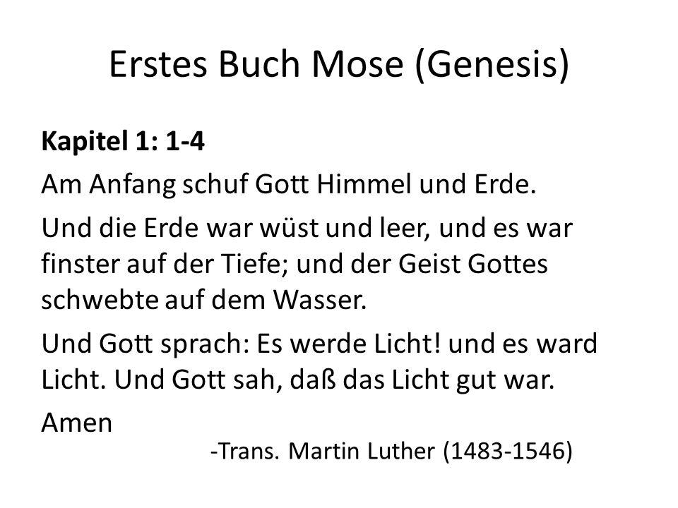 Erstes Buch Mose (Genesis)