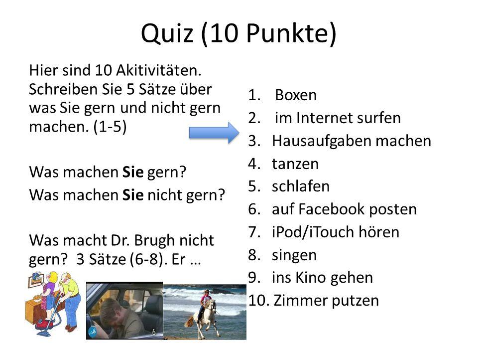 Quiz (10 Punkte)