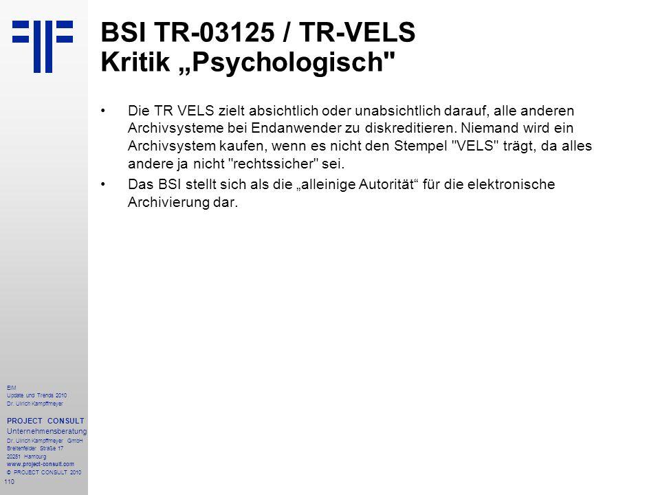 """BSI TR-03125 / TR-VELS Kritik """"Psychologisch"""