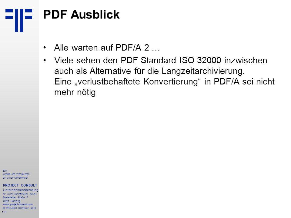 PDF Ausblick Alle warten auf PDF/A 2 …