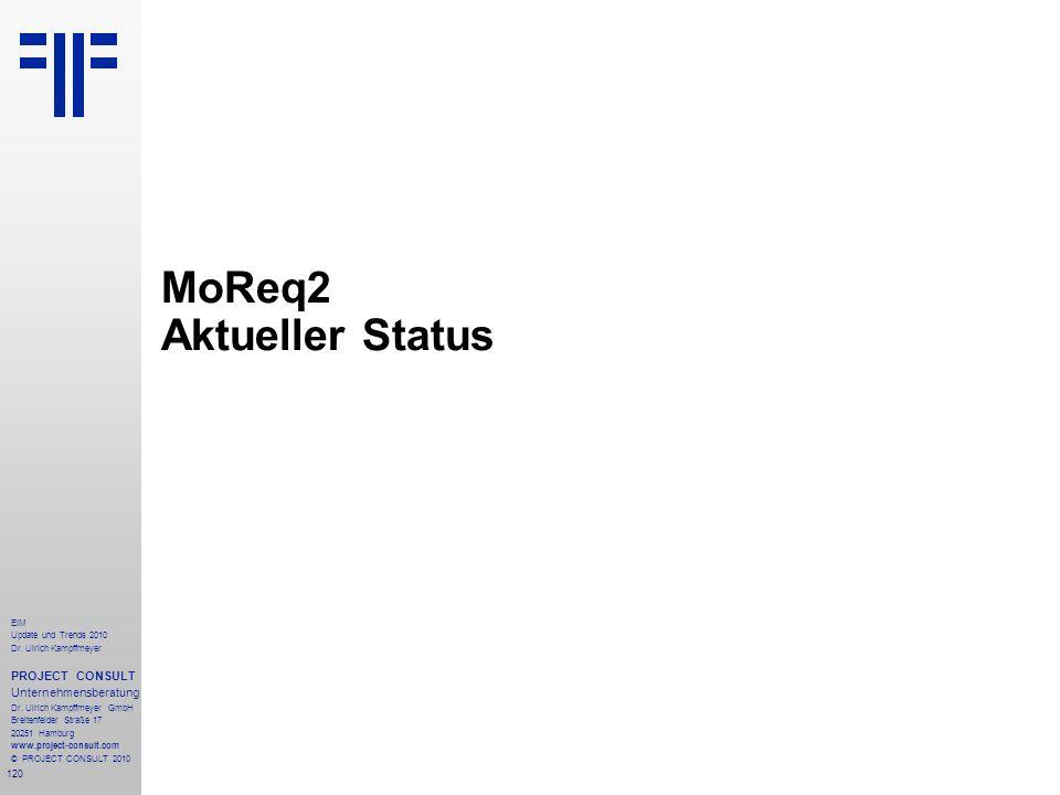 MoReq2 Aktueller Status