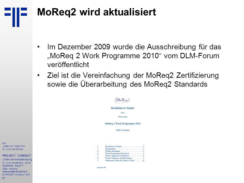 MoReq2 wird aktualisiert