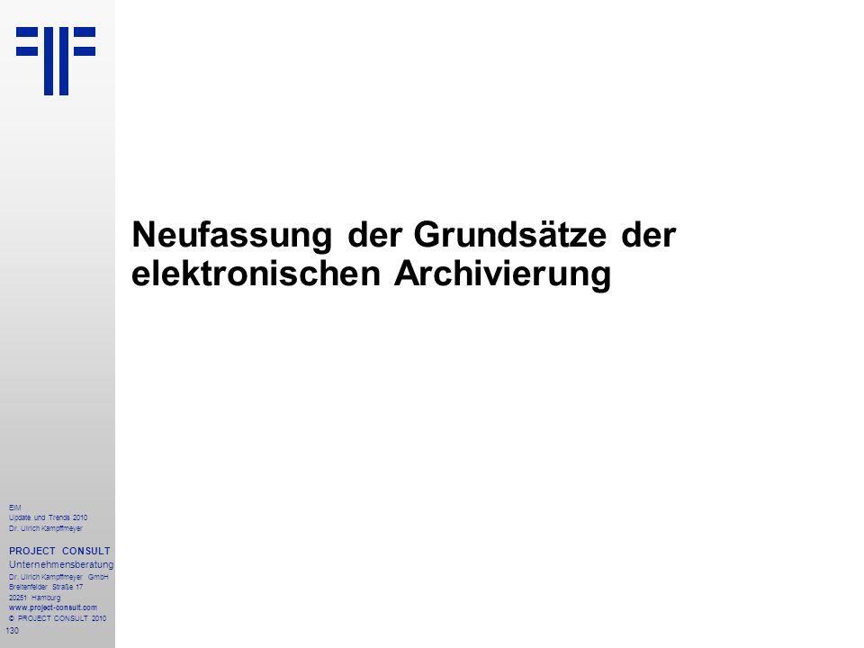 Neufassung der Grundsätze der elektronischen Archivierung