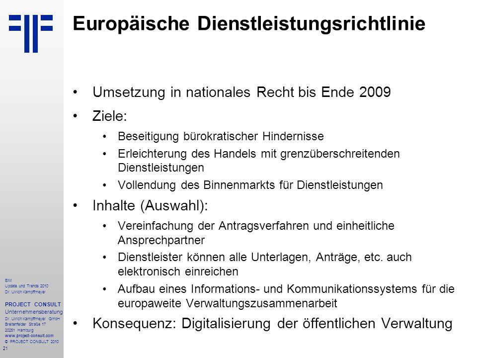 Europäische Dienstleistungsrichtlinie