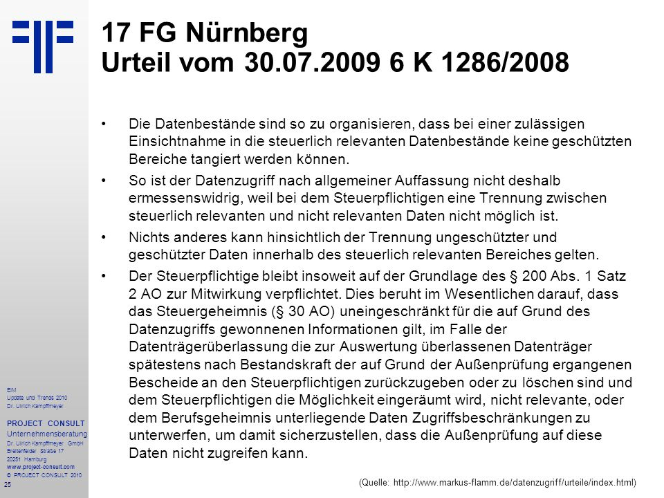 17 FG Nürnberg Urteil vom 30.07.2009 6 K 1286/2008