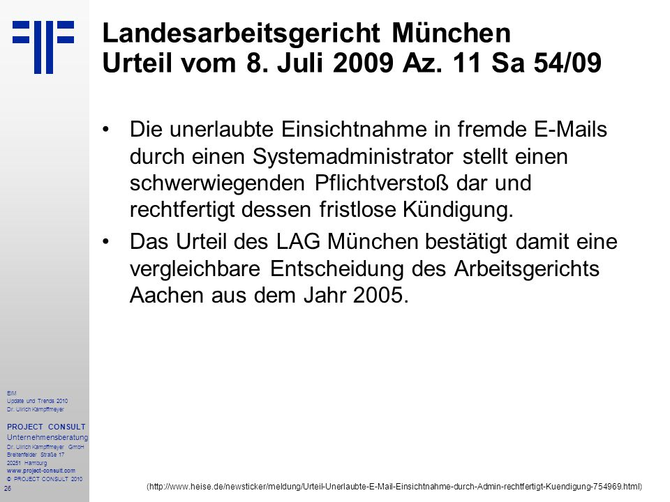 Landesarbeitsgericht München Urteil vom 8. Juli 2009 Az. 11 Sa 54/09