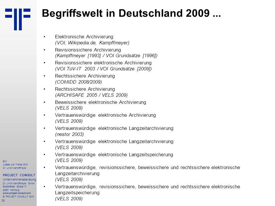 Begriffswelt in Deutschland 2009 ...