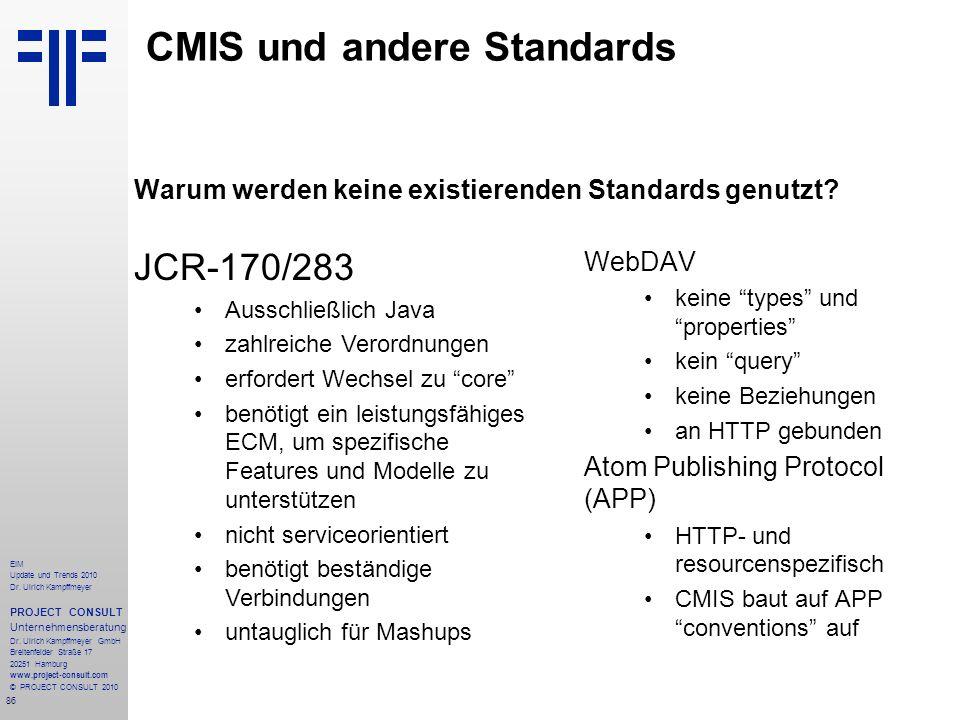 CMIS und andere Standards