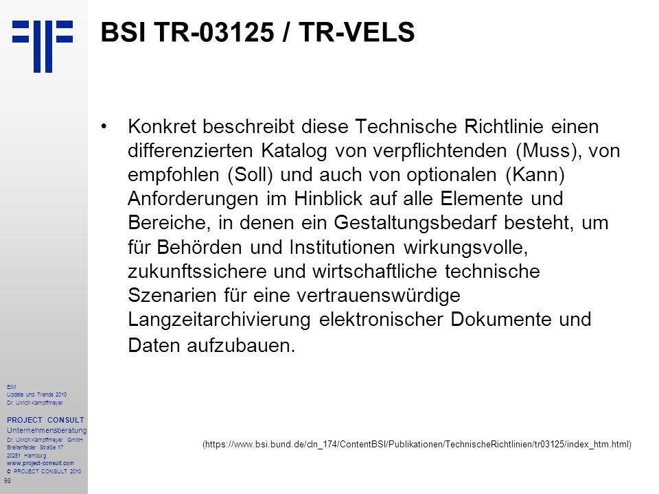 BSI TR-03125 / TR-VELS