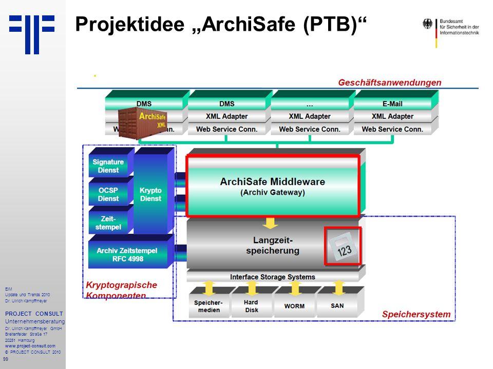 "Projektidee ""ArchiSafe (PTB)"