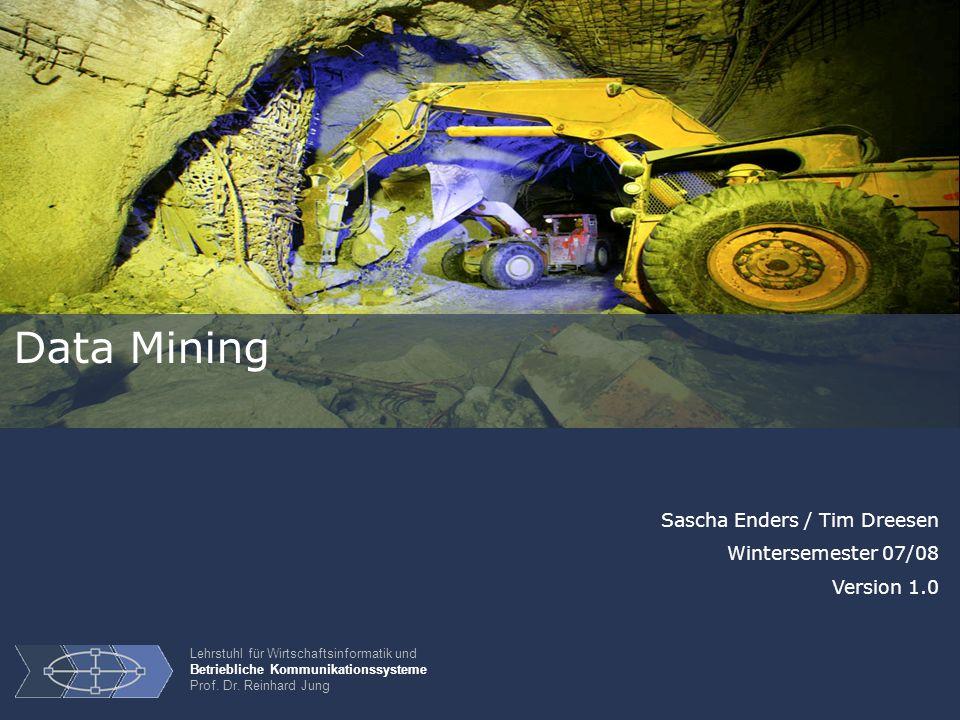 Data Mining Sascha Enders / Tim Dreesen Wintersemester 07/08