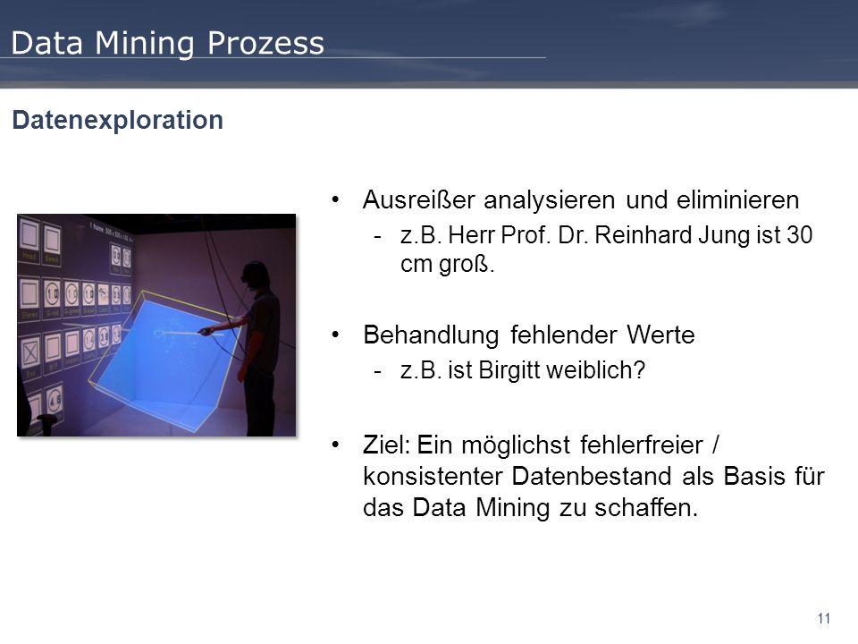 Data Mining Prozess Datenexploration