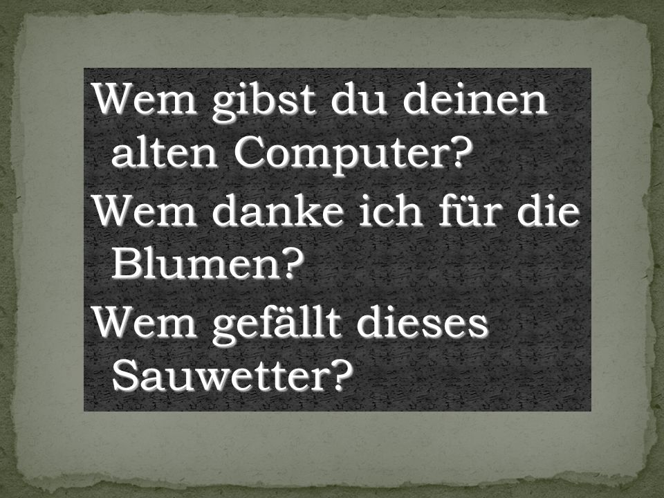 Wem gibst du deinen alten Computer
