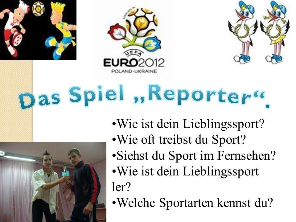 """Das Spiel """"Reporter . Wie ist dein Lieblingssport"""