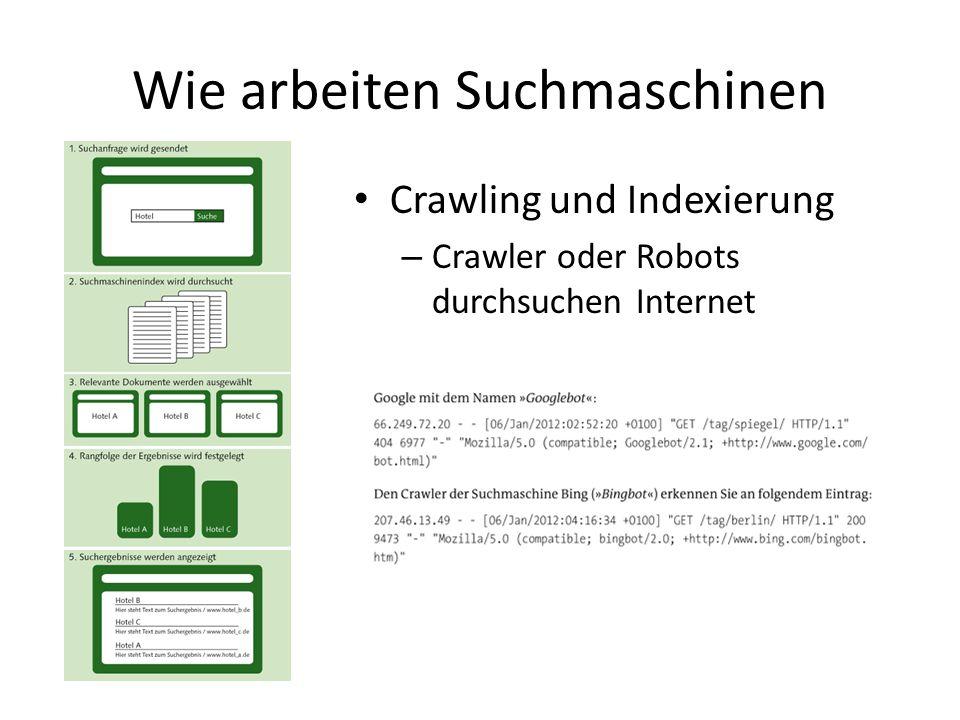 Wie arbeiten Suchmaschinen