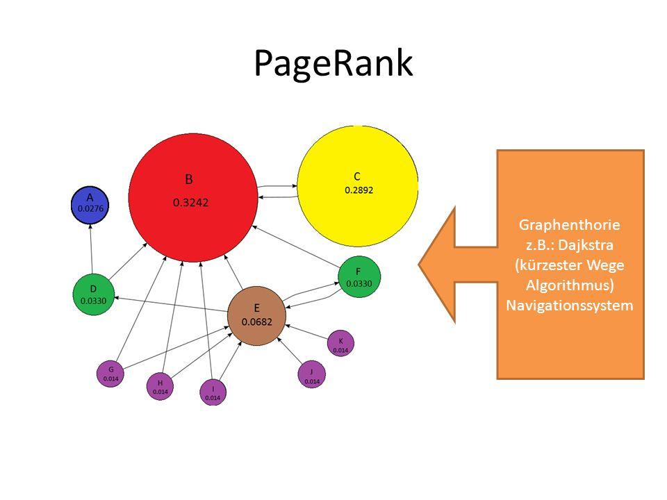 z.B.: Dajkstra (kürzester Wege Algorithmus)